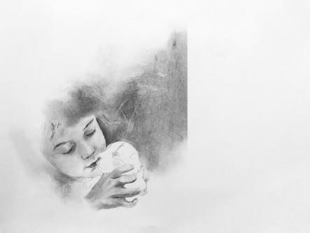 Graphite et fusain sur papier Ingres d'Arches 2021 50 x 65cm