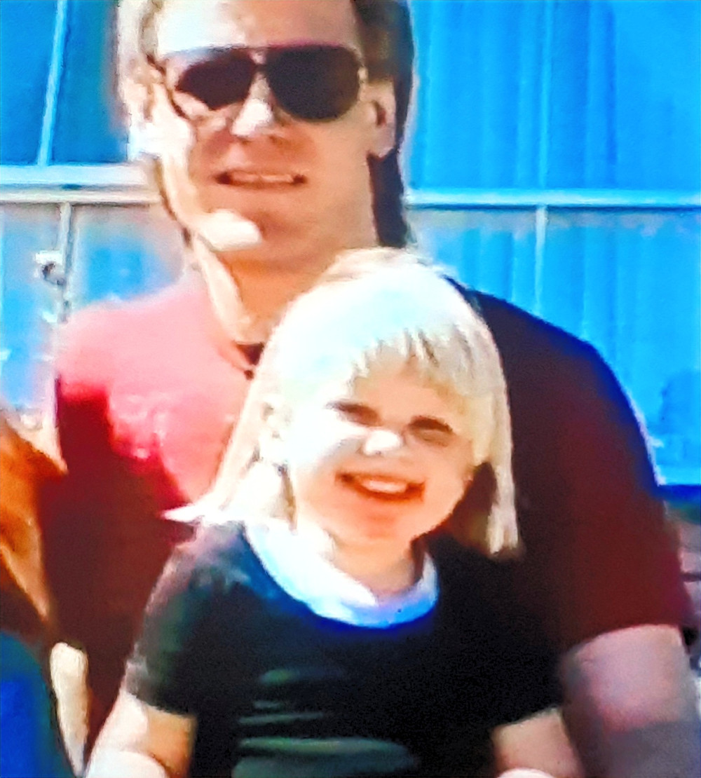 A young Soph and Uncle Scotty
