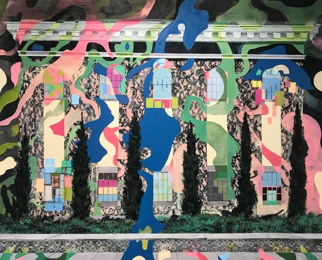 Hardman, acrylic on canvas, 4 x 5 feet,