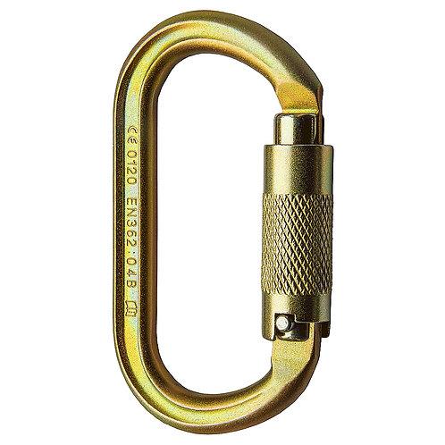 Mosquetón offset oval twistlock (seguro automático de 2 pasos)  40kN
