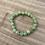 Thumbnail: Groene Calciet armband - 8 mm