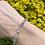 Thumbnail: Labradoriet armband (facet) - 4 mm
