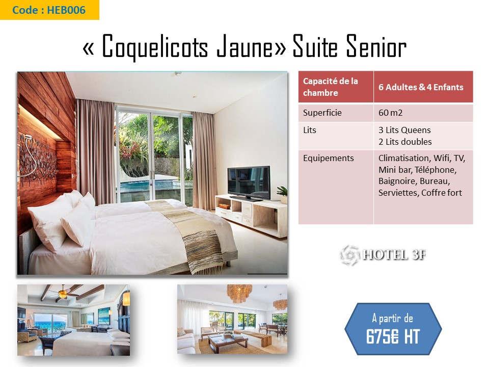 Suite Senior Coquelicots Jaune