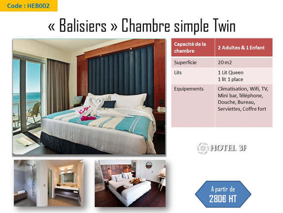 Chambre simple _Twin_ Balisiers