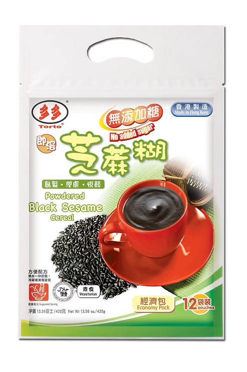 Torto Powdered Sugar-Free Black Sesame Cereal