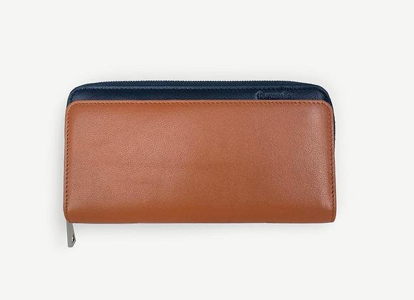 Addition Wallet Tan & Navy