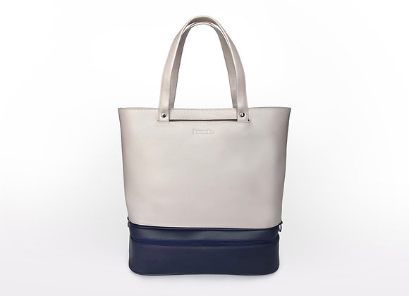 Addition Bag in Cream & Navy Gym Module