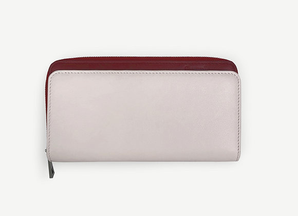 Addition Wallet Ivory & Maroon