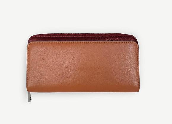 Addition Wallet Tan & Maroon