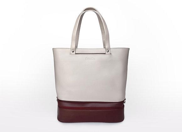Addition Bag in Cream & Maroon Gym Module