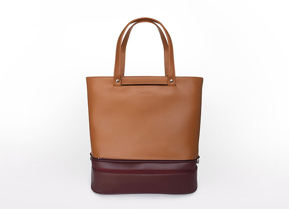 Addition Bag in Tan & Maroon Gym Module