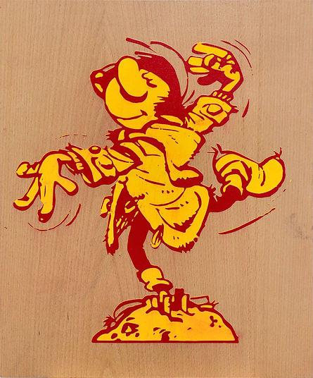 gaston-lagaffe-dreamer-dancing-painting.