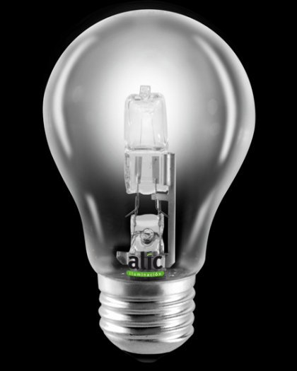 Lámpara Eco Halógena A19 Clara 28W E27 220v