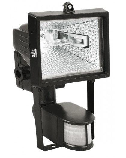 Proyector p/lámp de Cuarzo RP 500W c/Sensor Negro