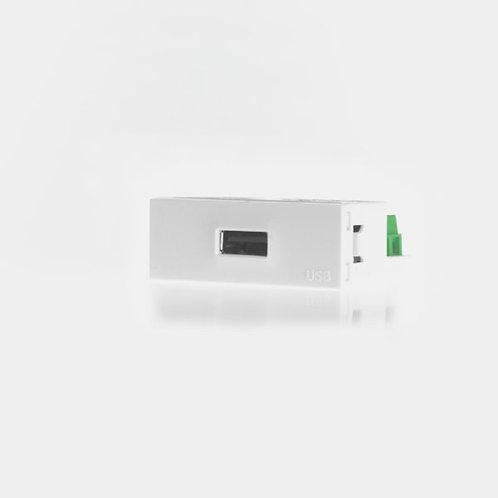 MODULO CARGADOR USB BLANCO/GRIS
