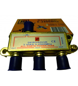 DERIVADOR CATV 5-2500MHZ 3VIAS TVD3013
