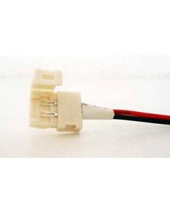 Cable con conectores p/Tira de Leds 3528 ColorFijo