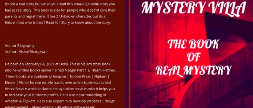 Mystery Villa E-Book