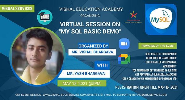 MY SQL - VISHAL EDUCATION ACADEMY EVENT.