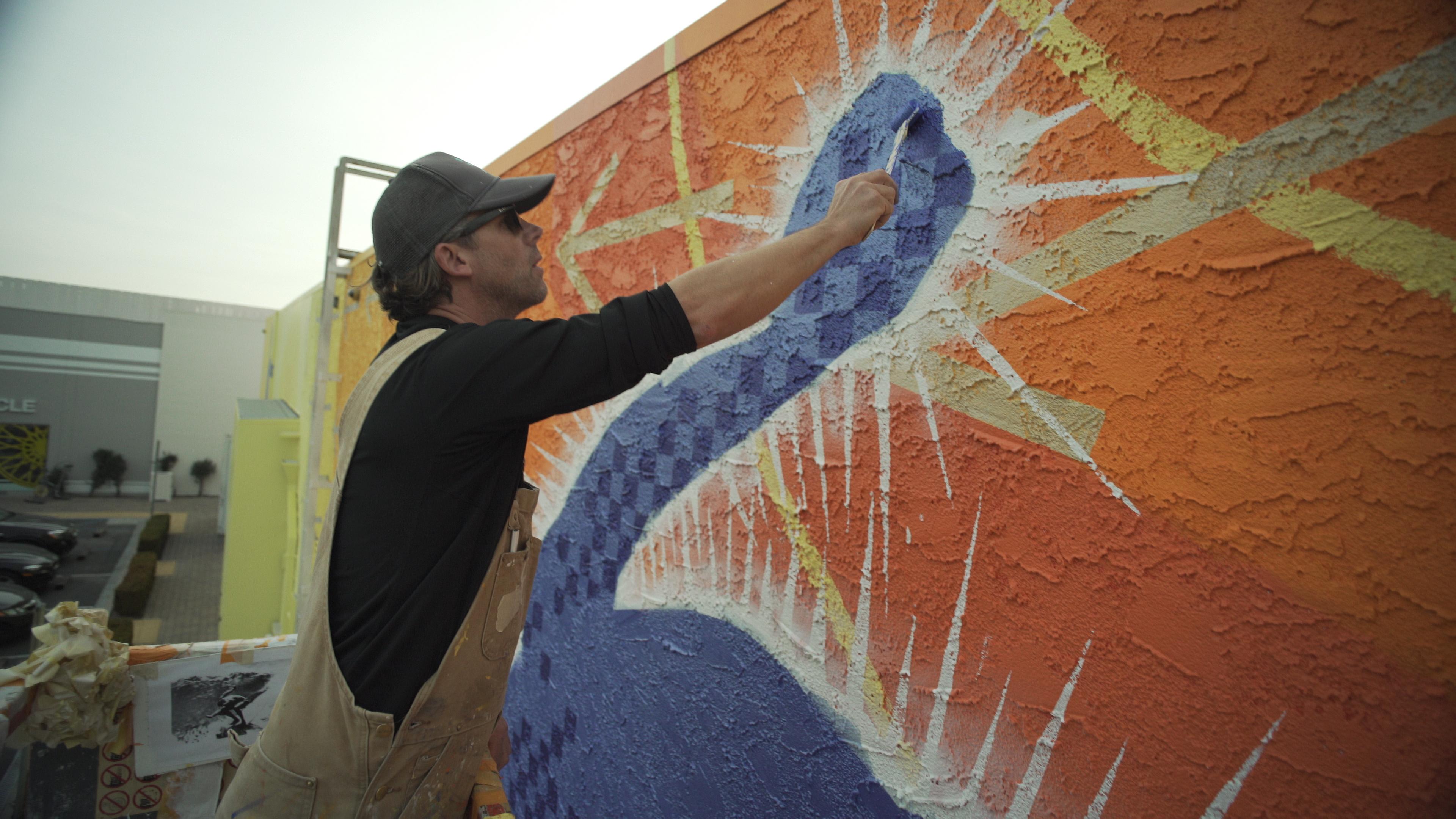 Malibu mural in progress