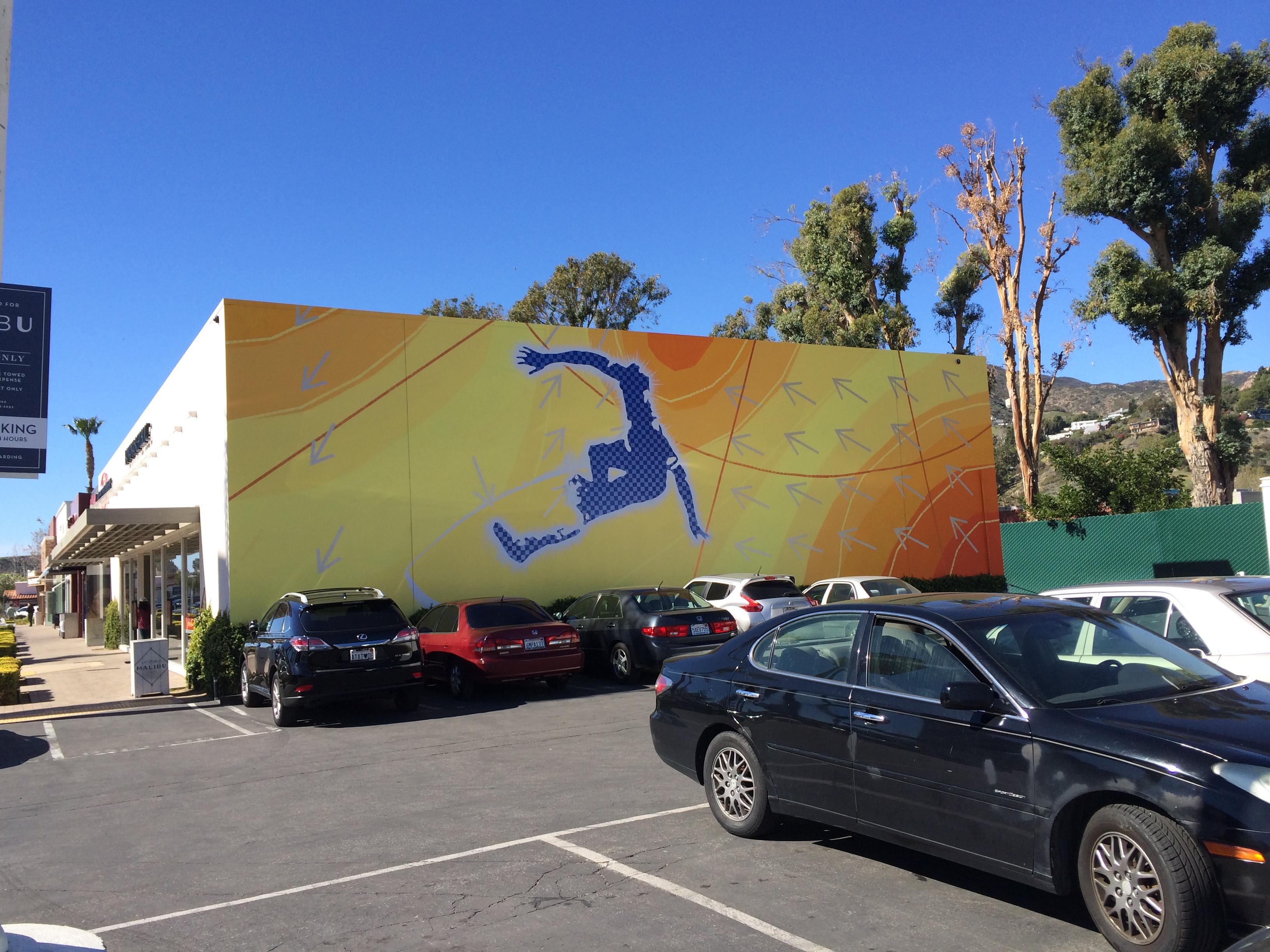 Malibu mural detail