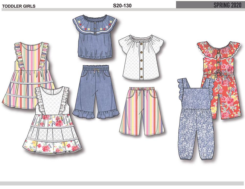 Toddler girl design board