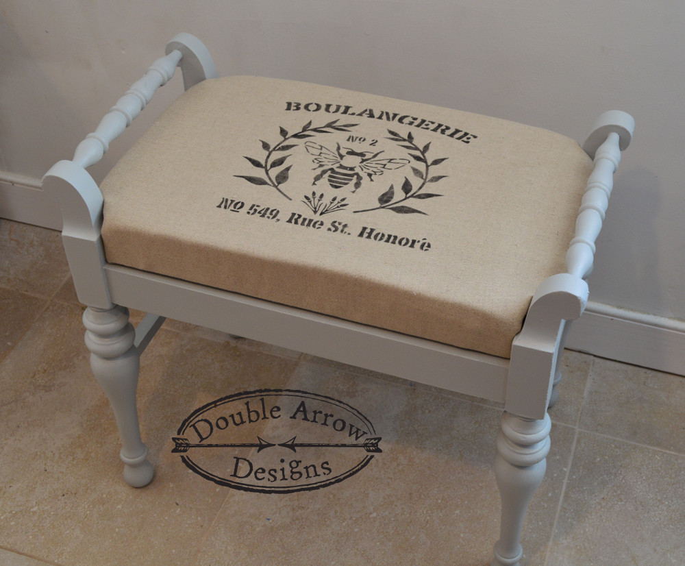 stenciled stool