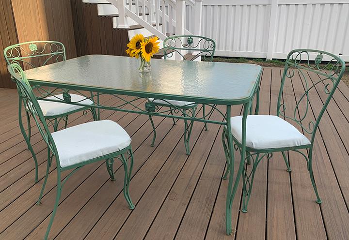 repainted patio set