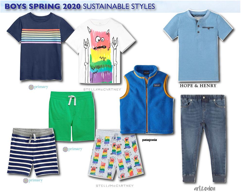 spring 2020 boys sustainable fashion styles
