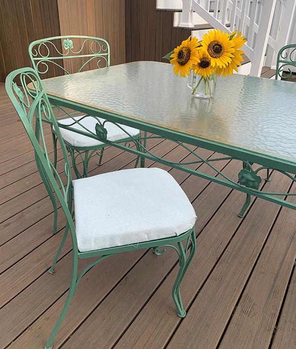 repainted patio furniture