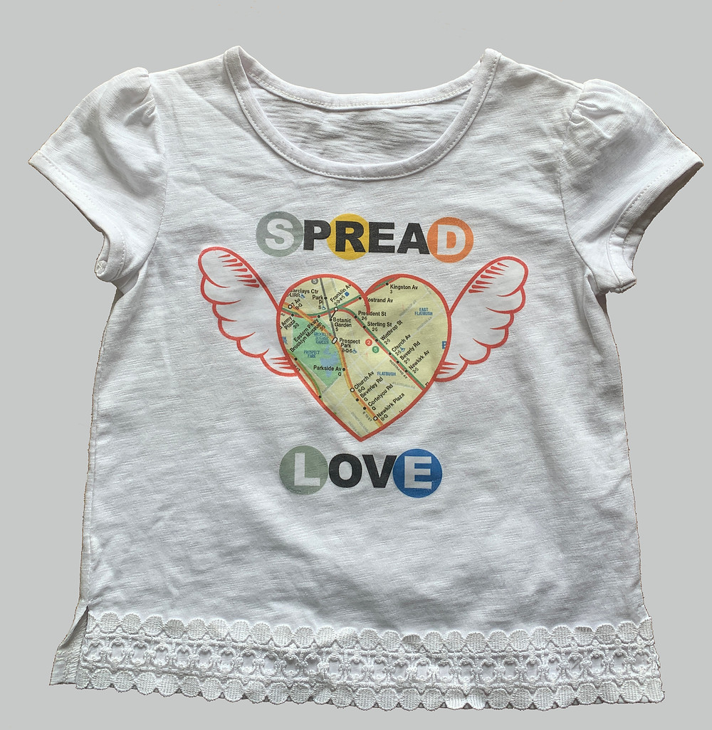 spread love graphic nyc subway map tee