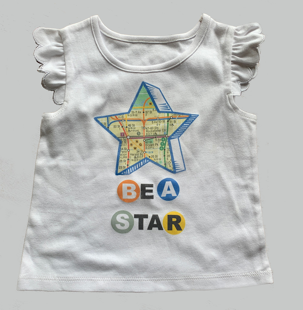 be a start nyc subway map graphic tee