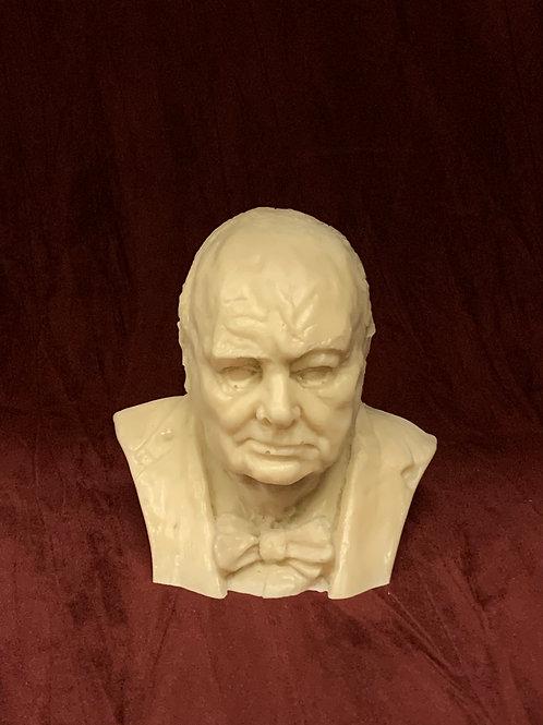 Winston Churchill bust, WW2 memorabilia - cold cast in Marble/Bronze
