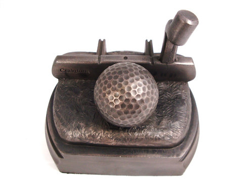 Putter and Golf Ball on base.
