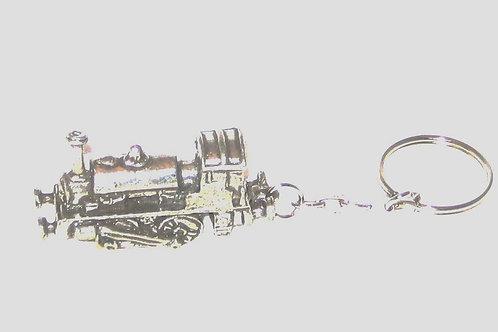 Pewter Locomotive Keyring