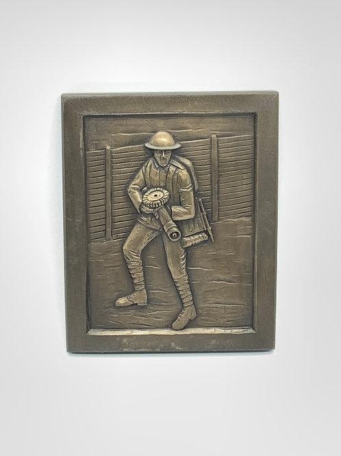 Machine Gunner WW1 Plaque