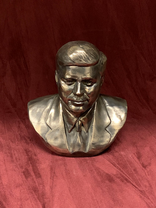 JFK Bust cold cast Bronze/Marble - John F Kennedy resin cold cast Aluminium bust