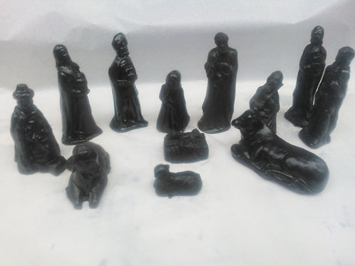 Coal Nativity Set