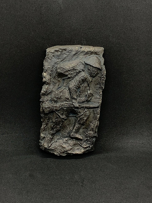 WW1 Soldier Shilouette cold cast bronze