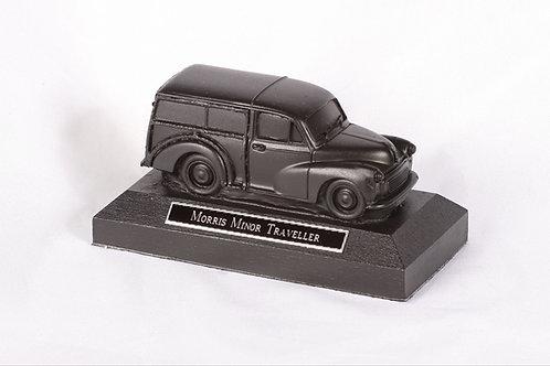 Morris Minor Traveller - cold cast bronze