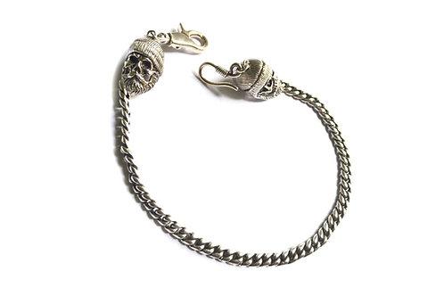 Boxer -Silver Wallet Chain