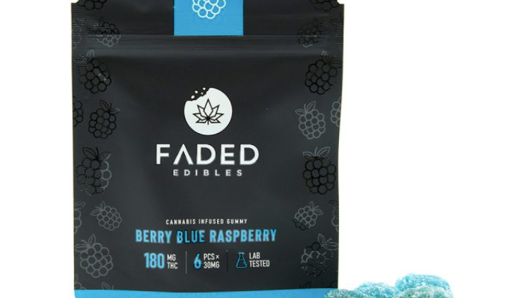FADED - Berry Blue Raspberry | 180MG THC