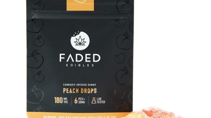 FADED - Peach Drops | 180MG THC
