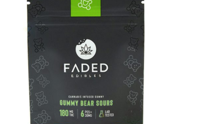 FADED- Gummy Bear Sours | 180MG THC