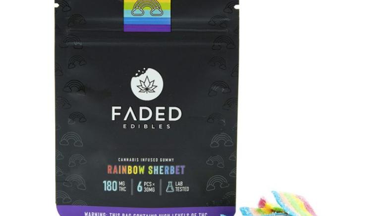FADED - Rainbow Sherbet   180MG THC