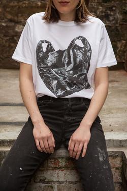 HOLZ T-Shirt Plastic Bag Women 2