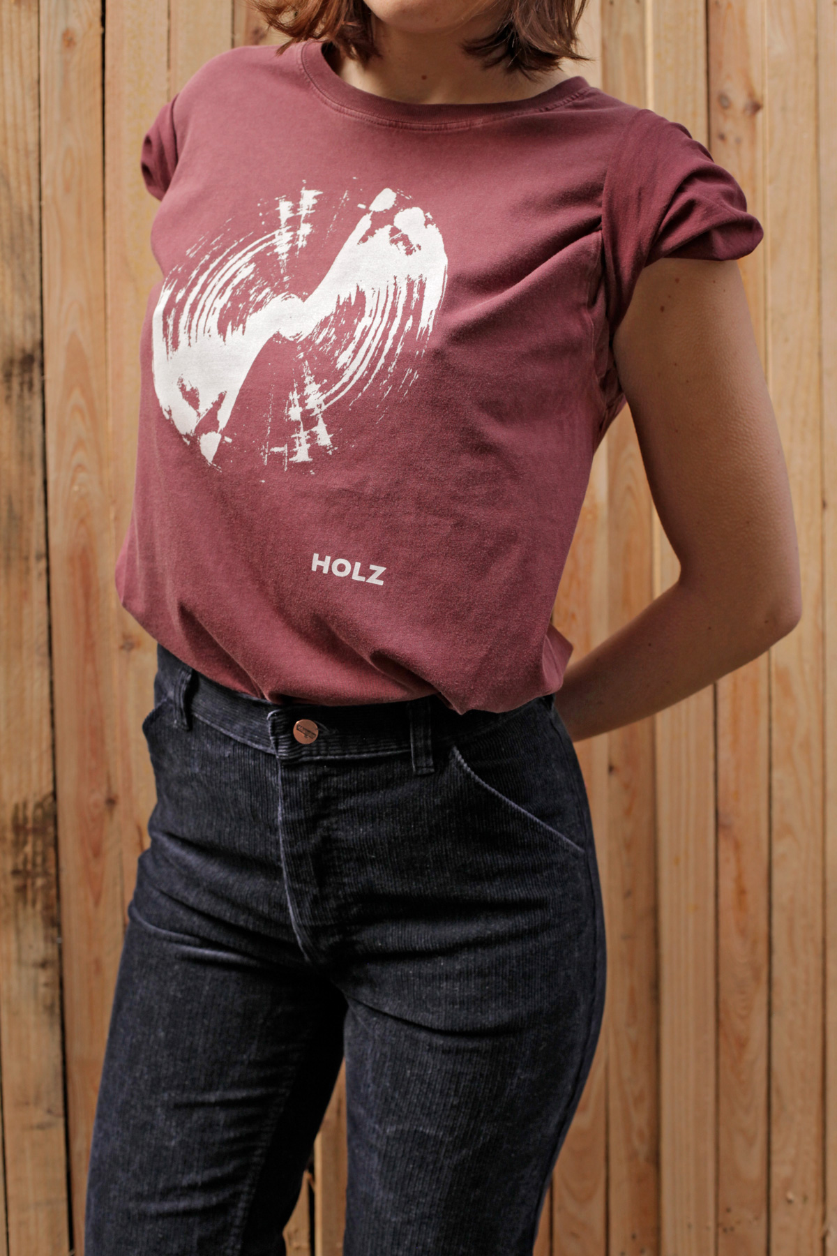 HOLZ T-Shirt Radar Burgundy