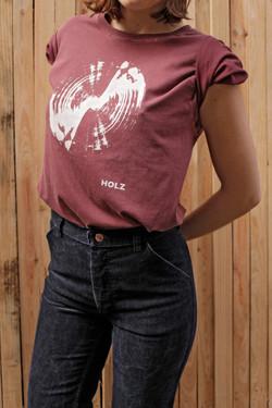 HOLZ T-Shirt Radar Burgundy