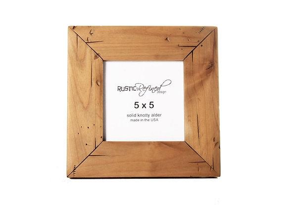 5x5 Cabin Picture Frame - Natural Alder