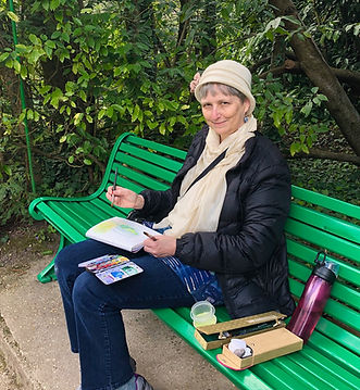 Susan painting in Monet's garden (2).jpg